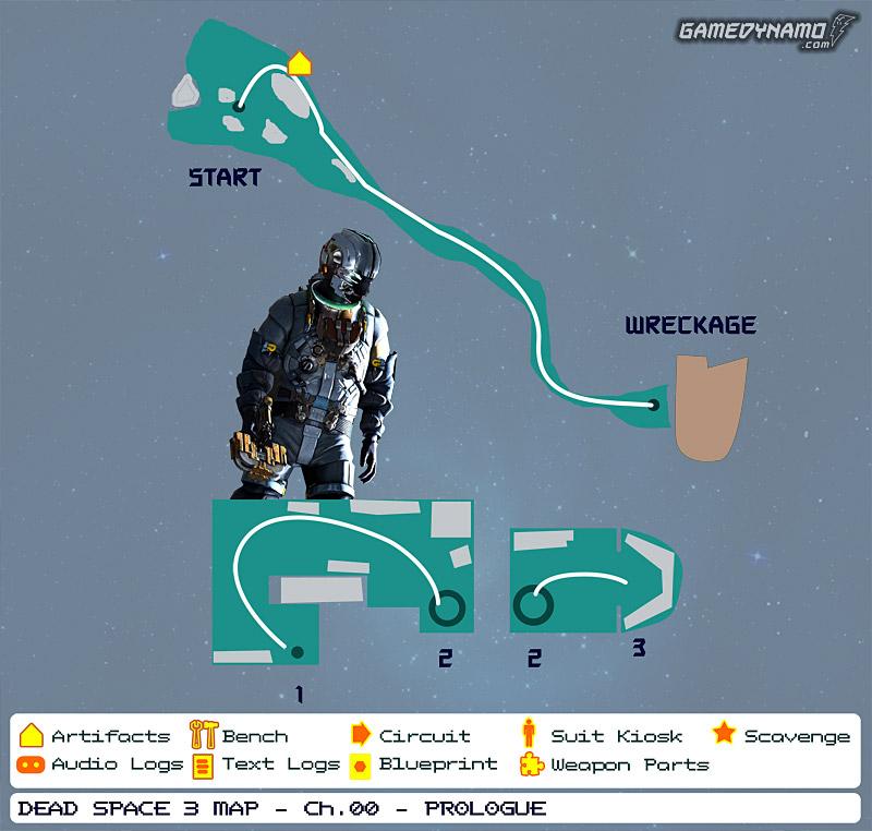 Dead space 3 mapas de localización de artefactos registros de